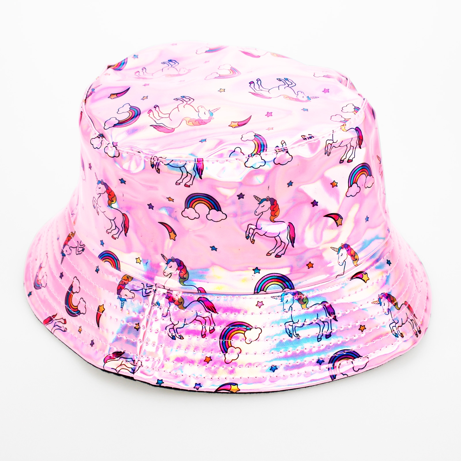 Click to view product details and reviews for Pink Holographic Unicorn Hat.