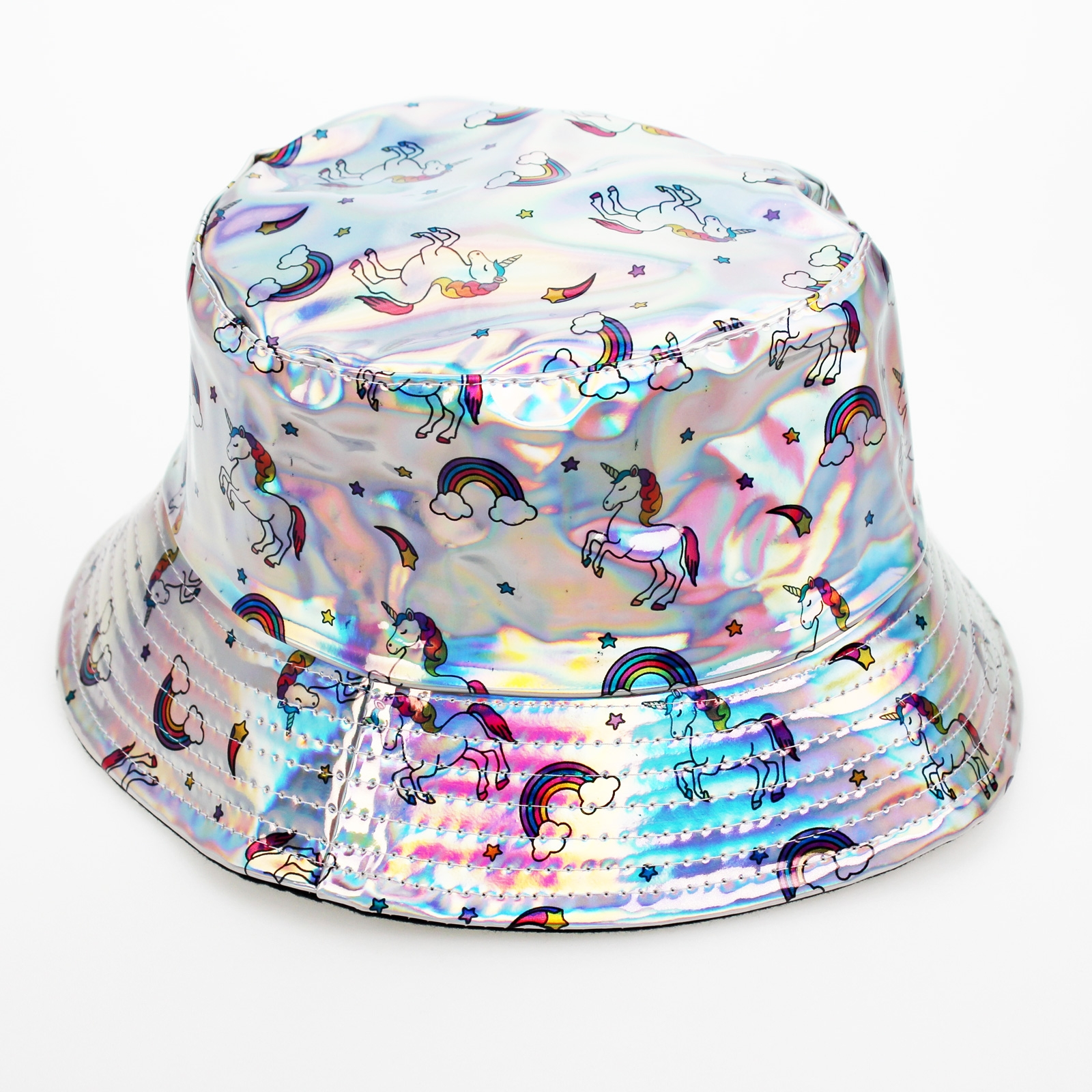 Click to view product details and reviews for Silver Holographic Unicorn Hat.