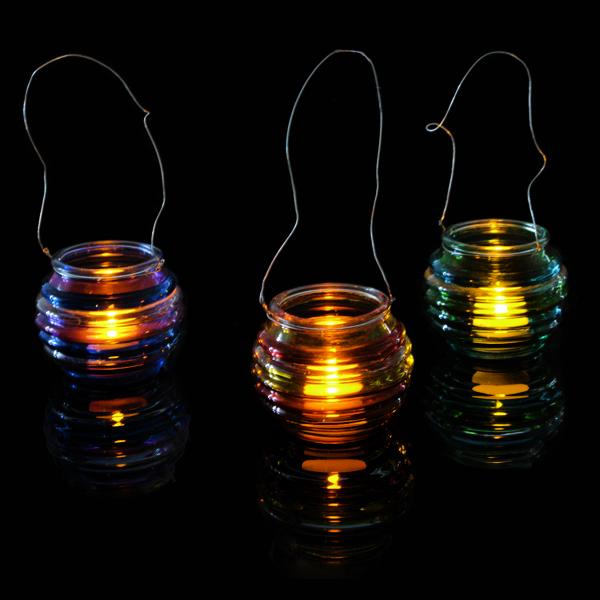 Honey Pot Glass T Light Holder