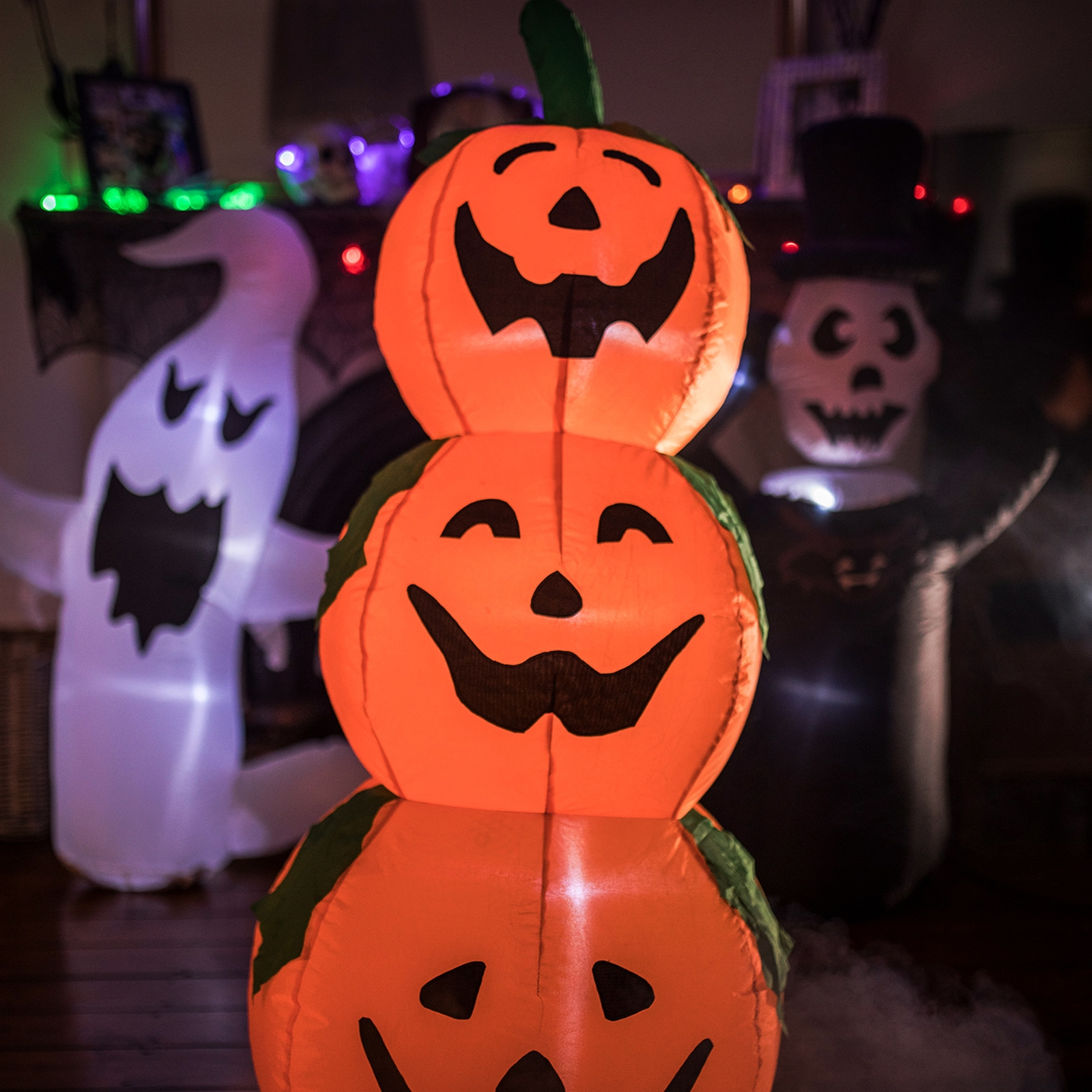 Click to view product details and reviews for Inflatable Three Pumpkin Stack.