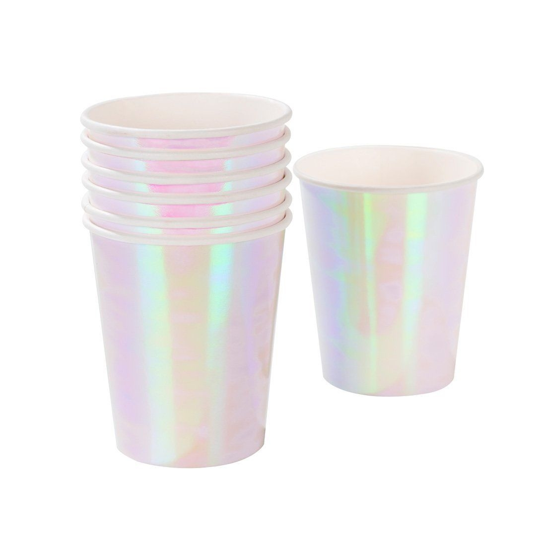Click to view product details and reviews for 12 Iridescent Paper Cups.