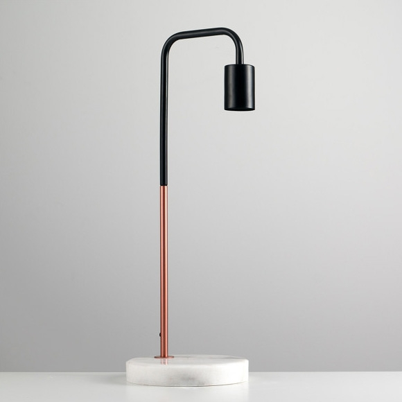 Click to view product details and reviews for Copper Desk Lamp With Marble Stone Base.