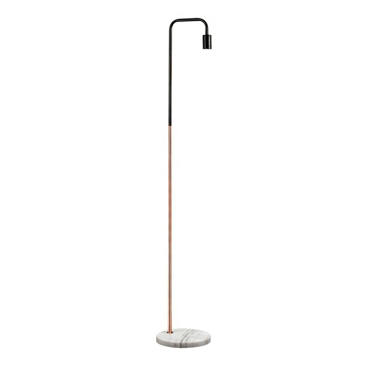 Gold Floor Lamp With Marble Stone Base