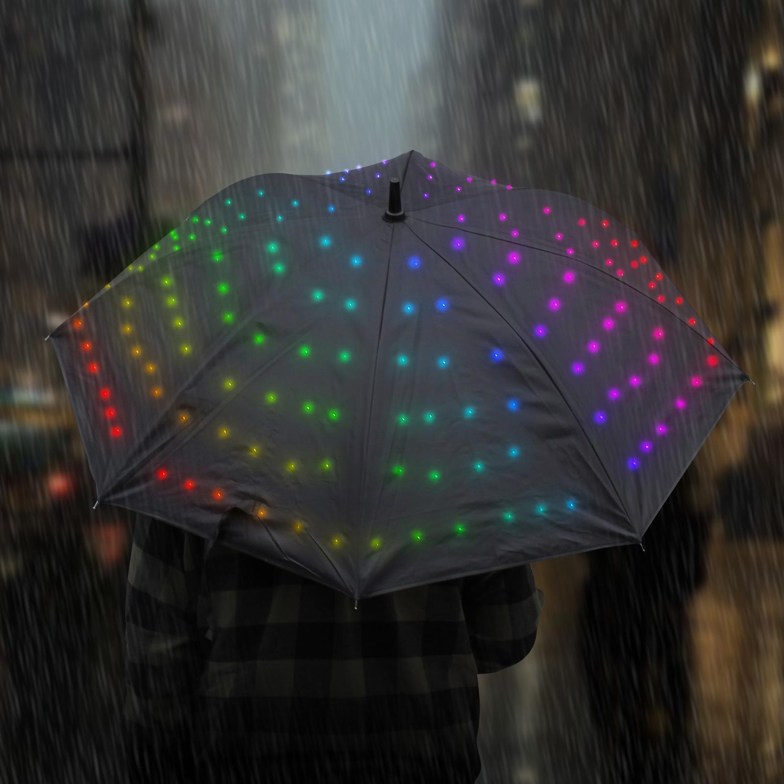 Light Up Starry Umbrella Multi Colour