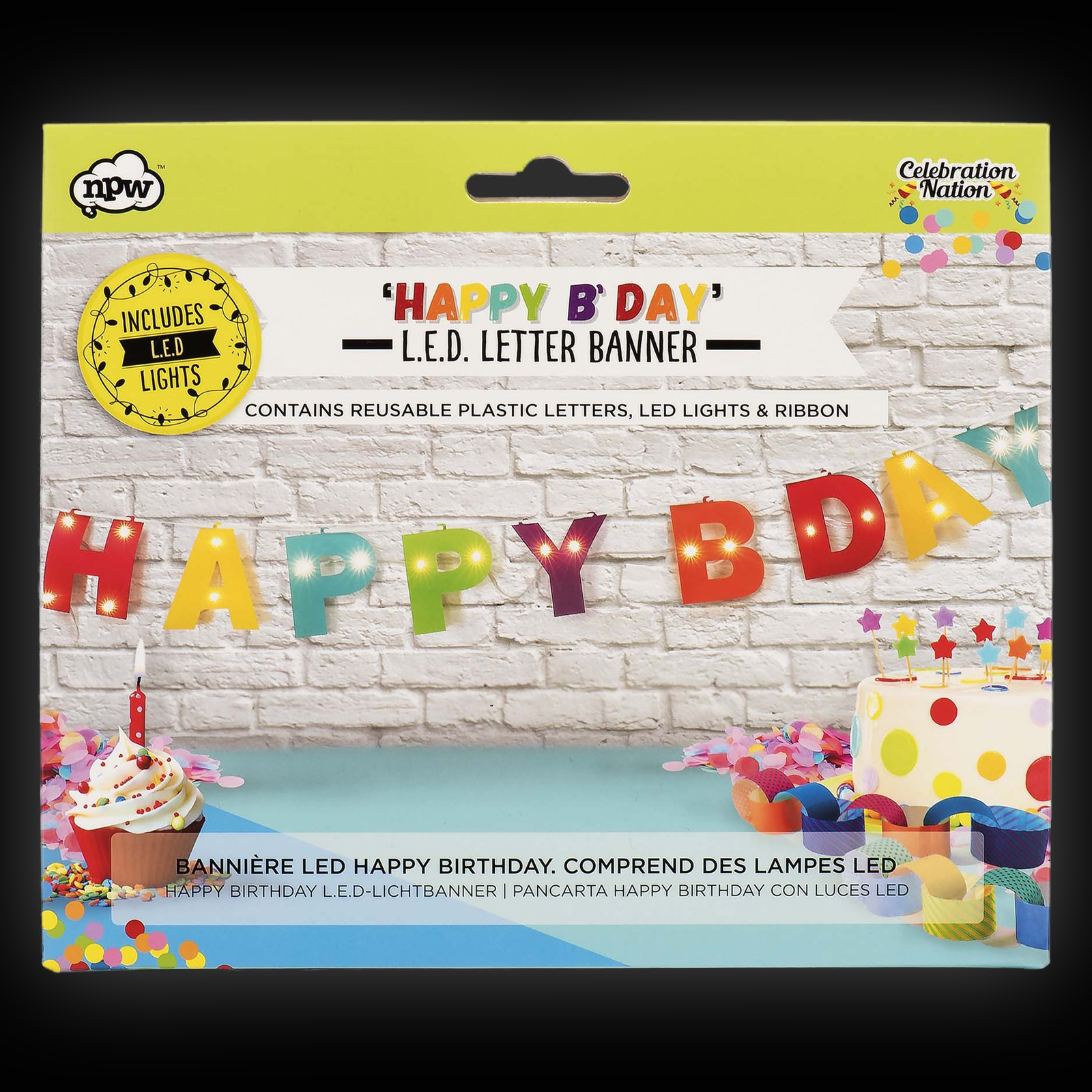 Led Happy Birthday Banner