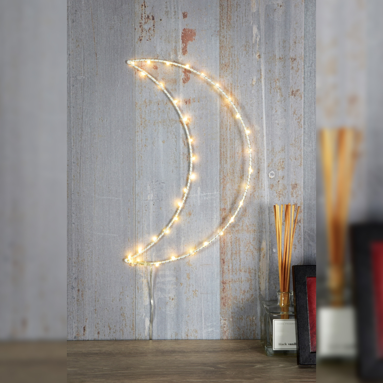 Click to view product details and reviews for Led Silhouette White Moon Wall Light.