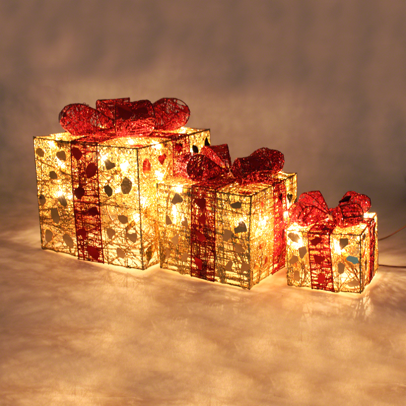 Light Up Christmas Parcels 3 Pack