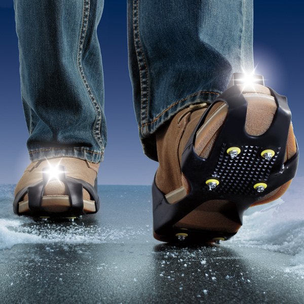 Light Up Ice Traction Slip Ons