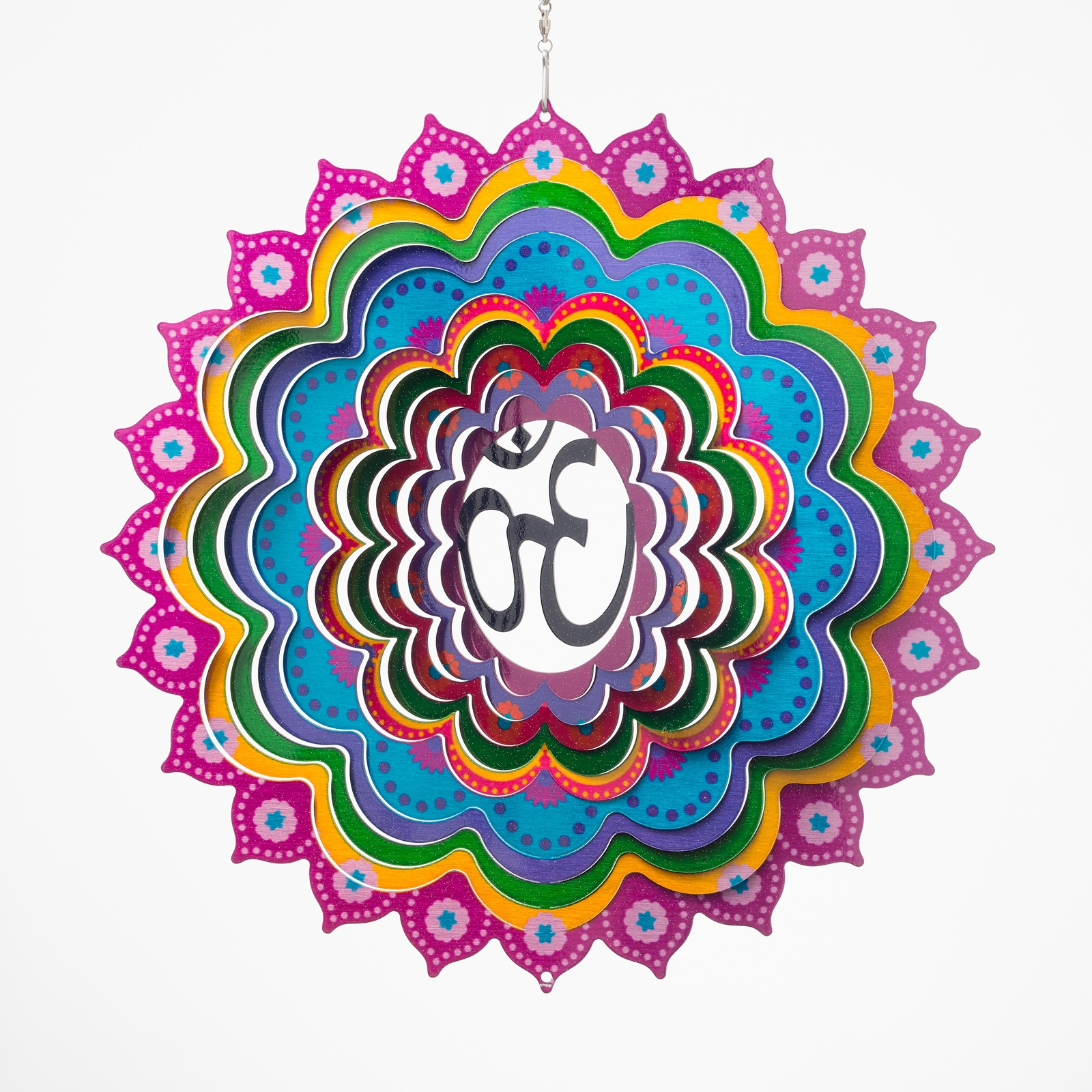 Click to view product details and reviews for Mandala Om Wind Spinner.