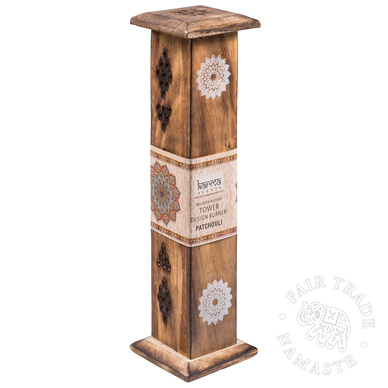 Click to view product details and reviews for Mango Wood Incense Tower Namaste Scents.