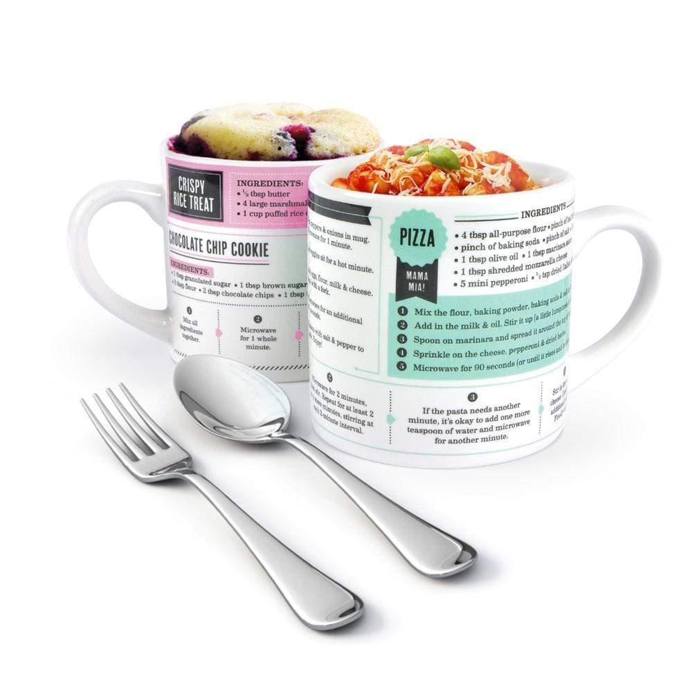 Grub Mugs Sweet And Salty Microwave Recipe Mugs 2 Pack