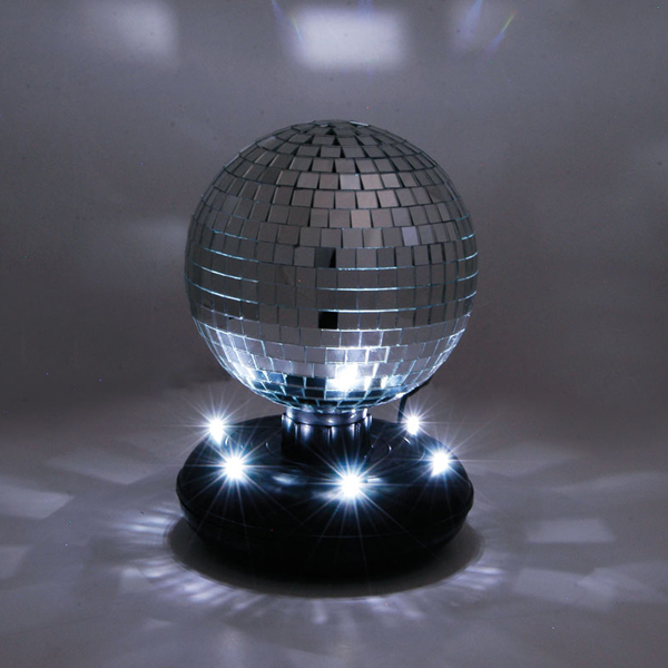 Click to view product details and reviews for Mirror Ball On Led Base.
