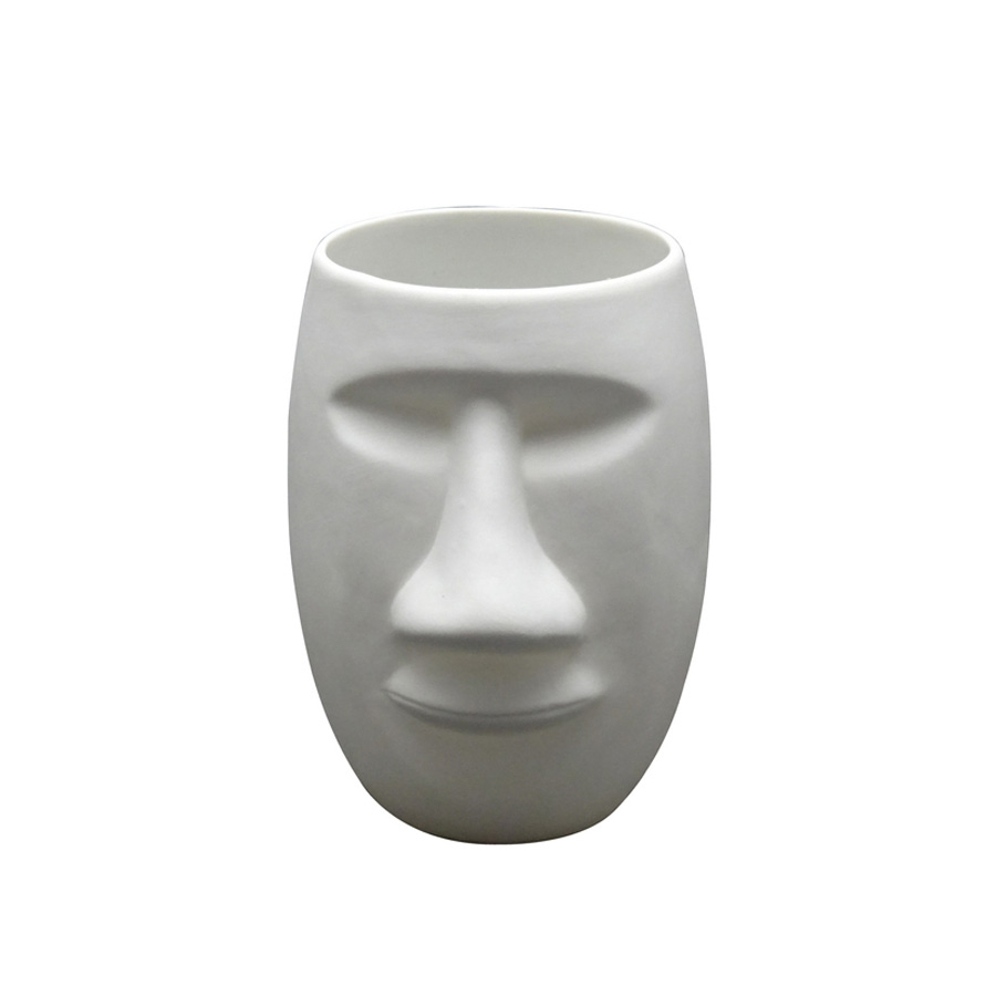 Click to view product details and reviews for Moai Man Face Porcelain Tealight Holder.