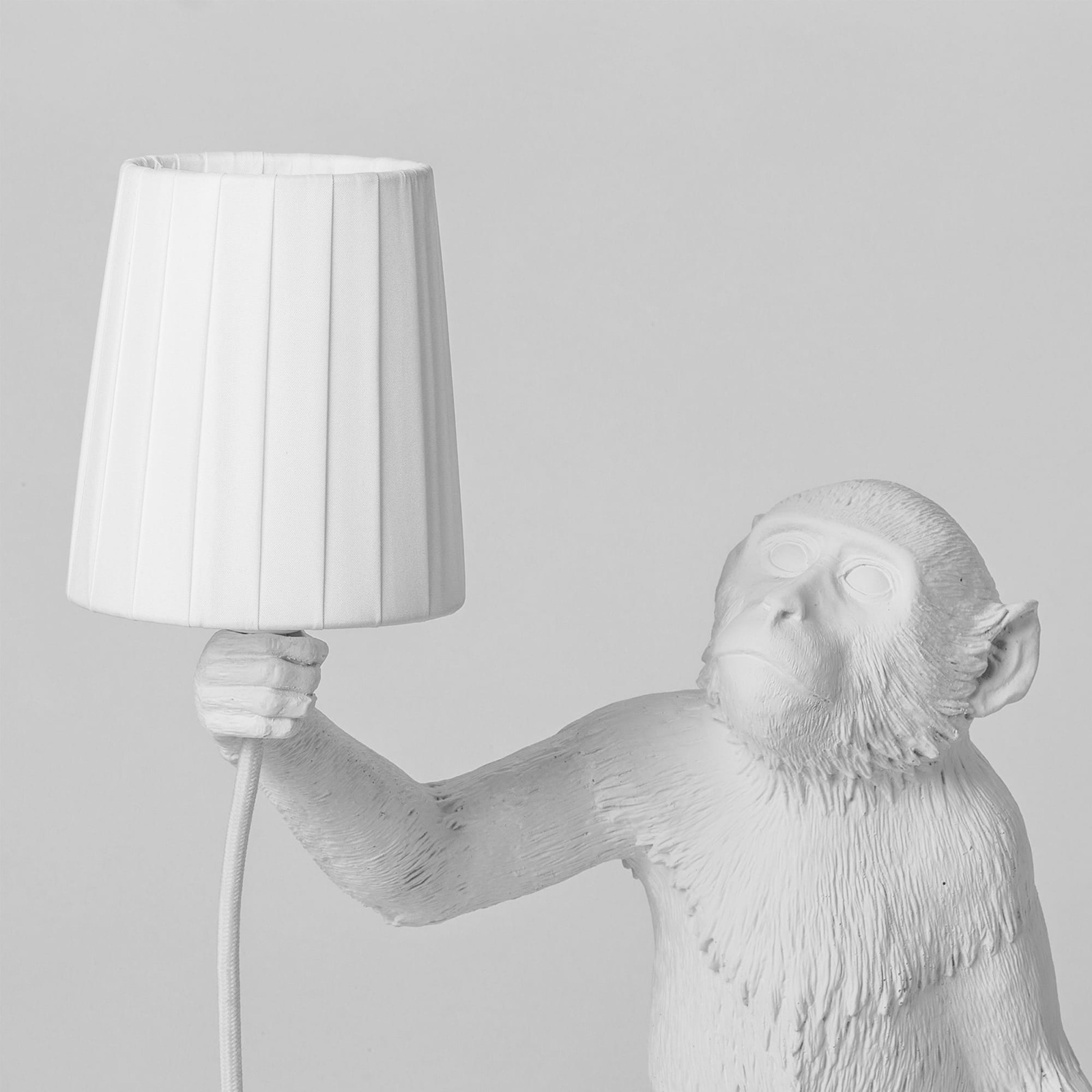 Click to view product details and reviews for Seletti White Monkey Lamp Shade.