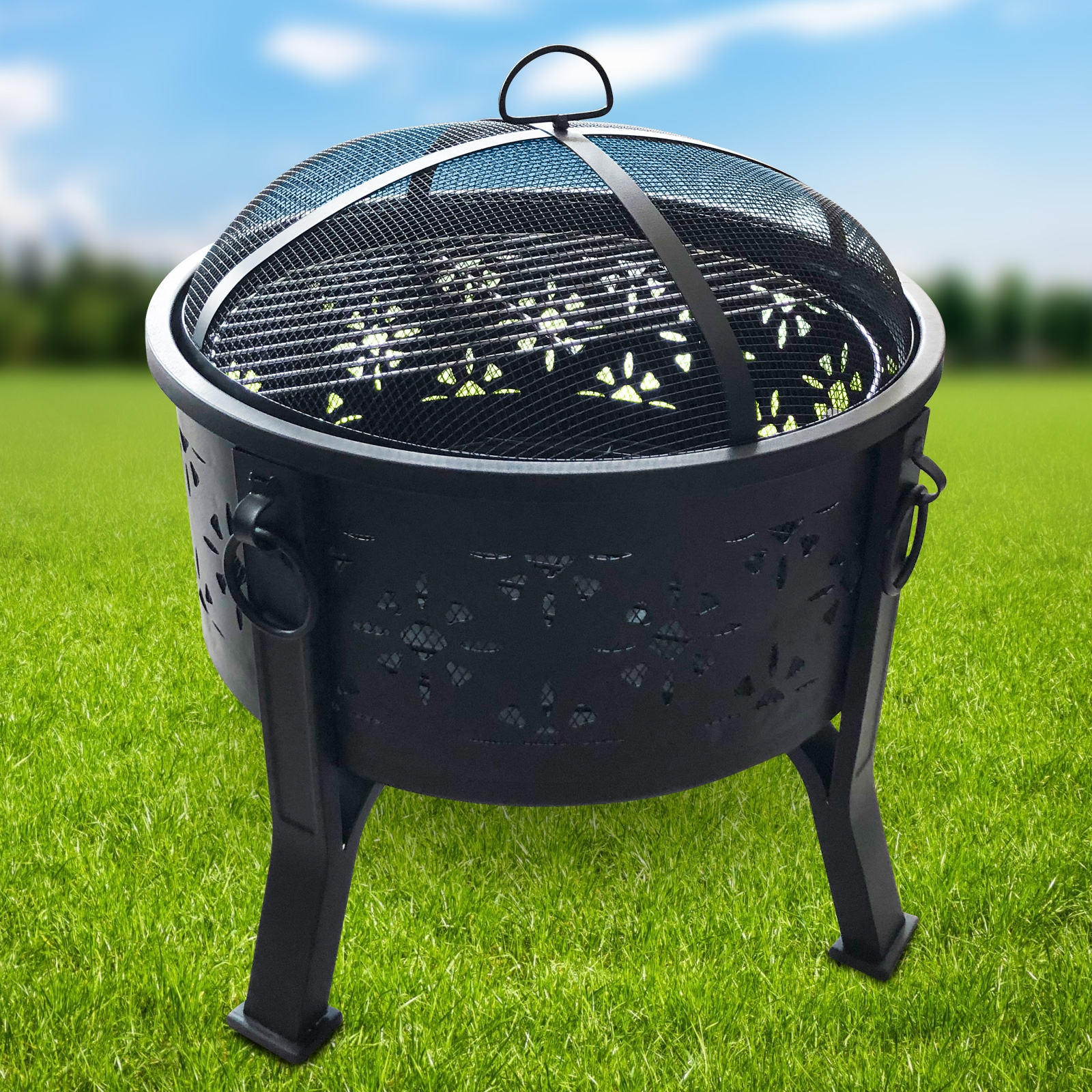 Click to view product details and reviews for Morroc Fire Pit And Bbq Grill With Rain Cover By Fire And Dine.