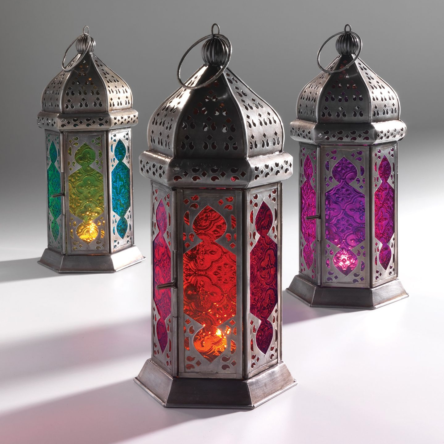Click to view product details and reviews for Moroccan 30cm Tonal Glass Lantern.