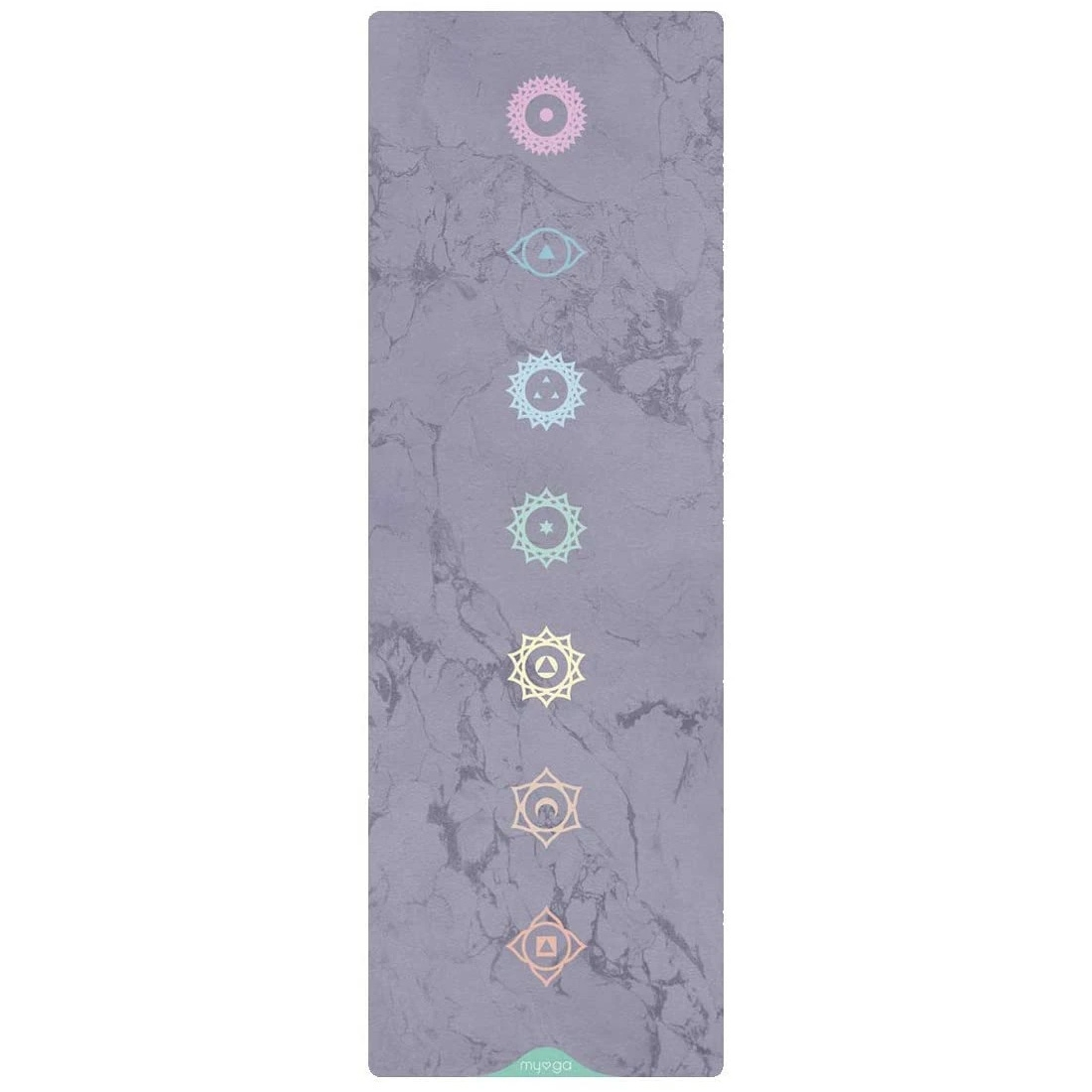 Click to view product details and reviews for Myga Vegan Suede Yoga Mat Chakra.