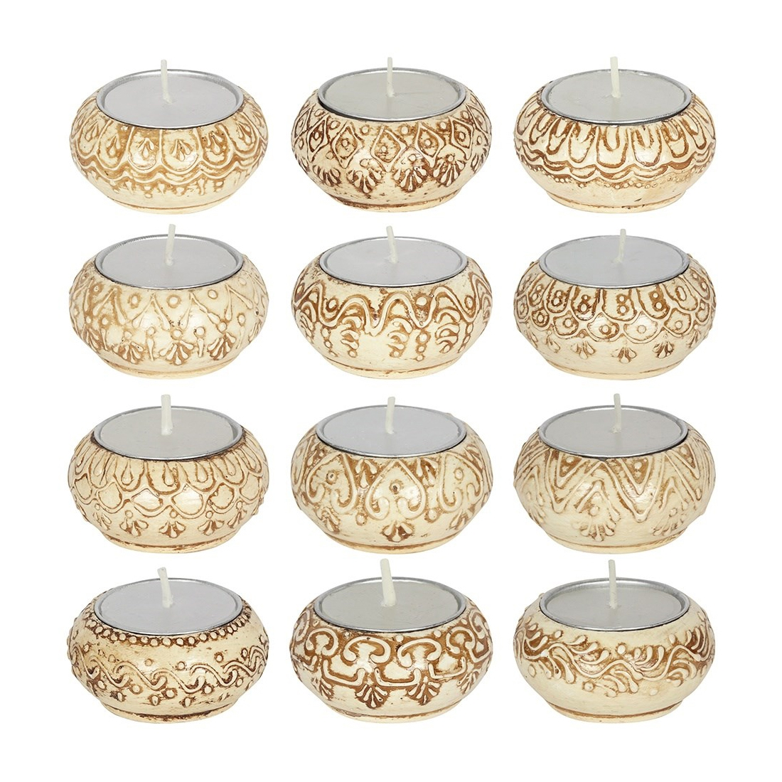 Click to view product details and reviews for Natural Cream Indian Tealight Holders.
