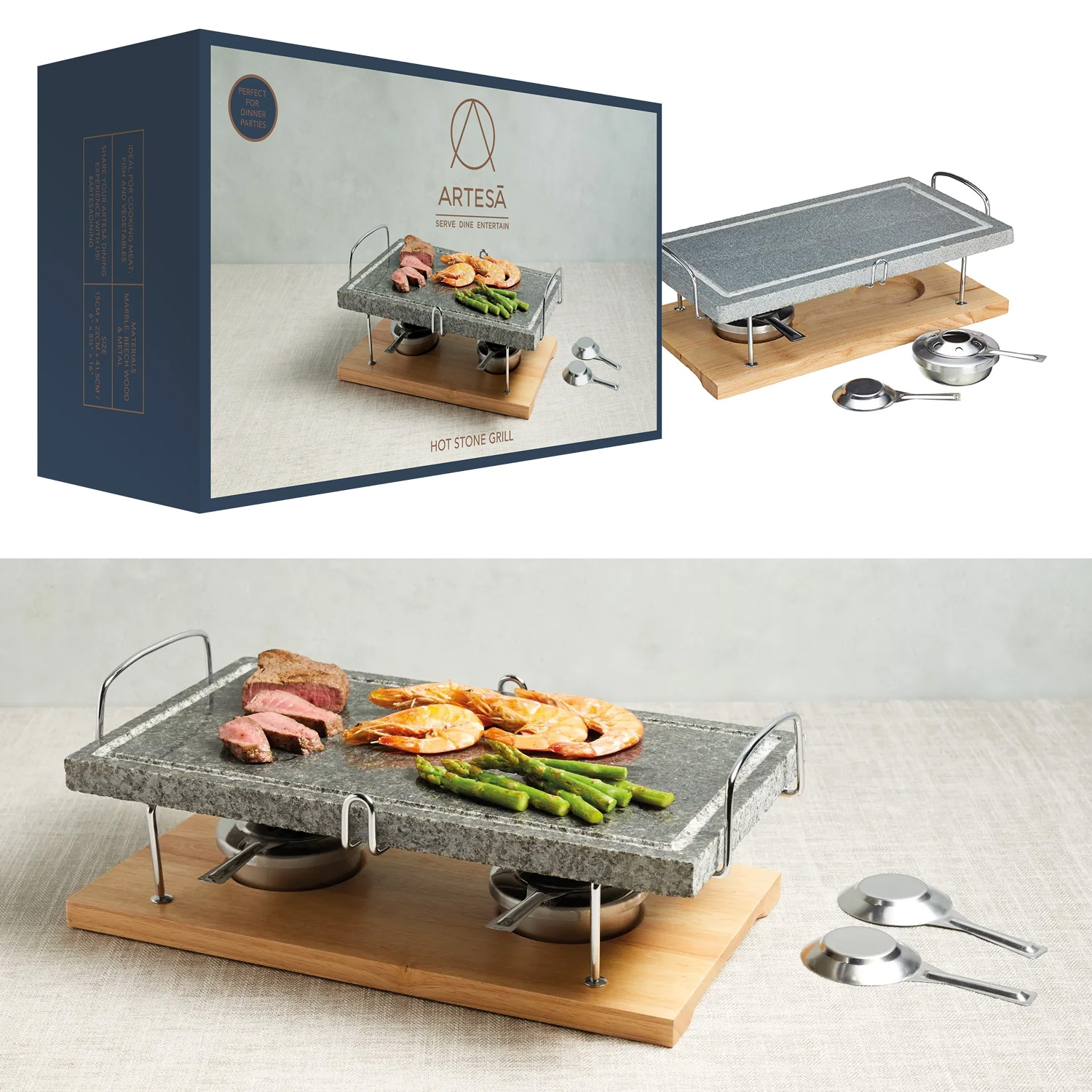 Marble Hot Stone Grill By Artesa