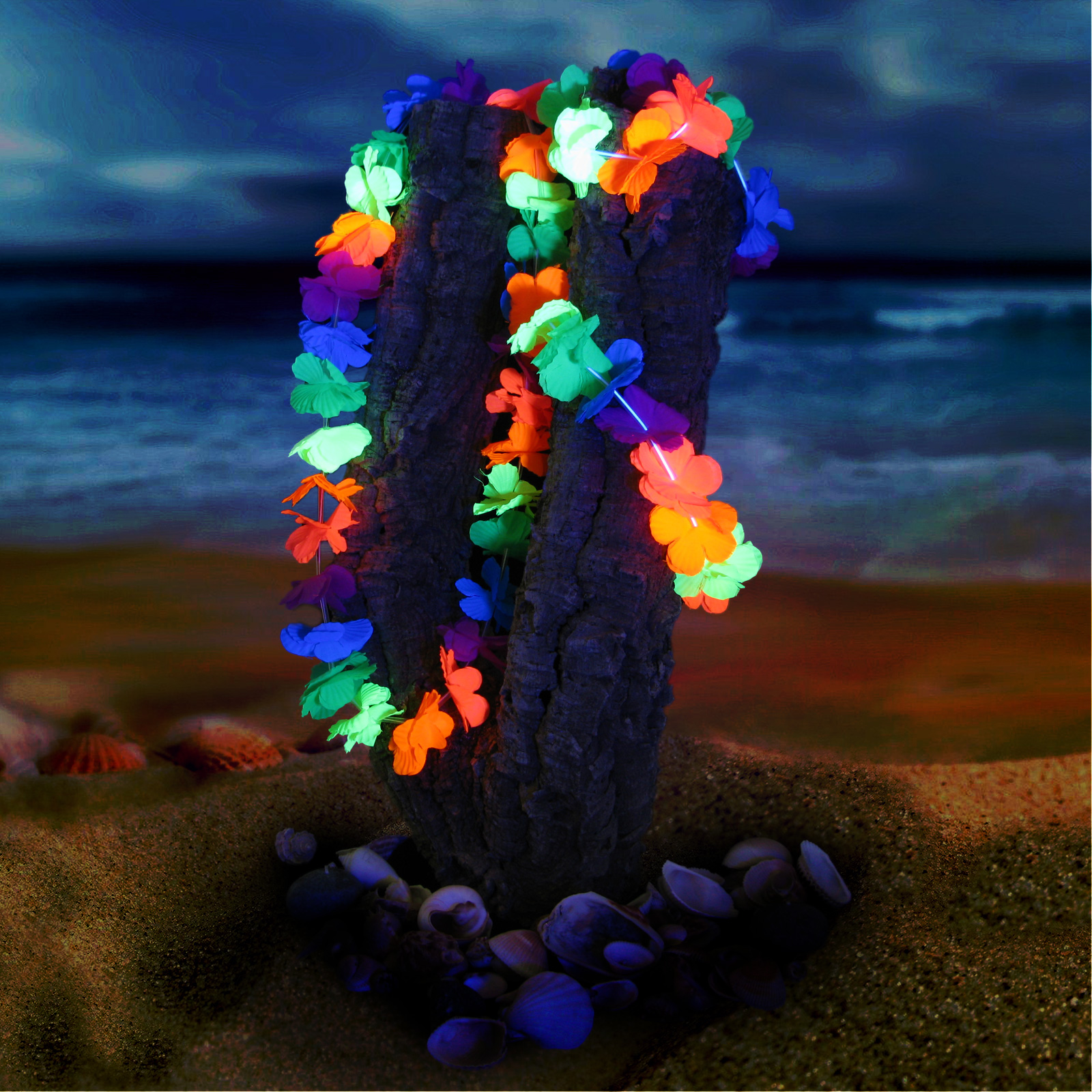 Click to view product details and reviews for Neon Hawaiian Lei Set.