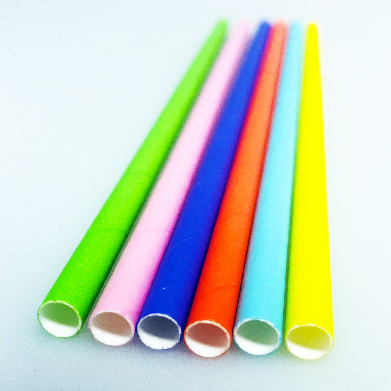 Neon Biodegradable Paper Straws 25 Pack