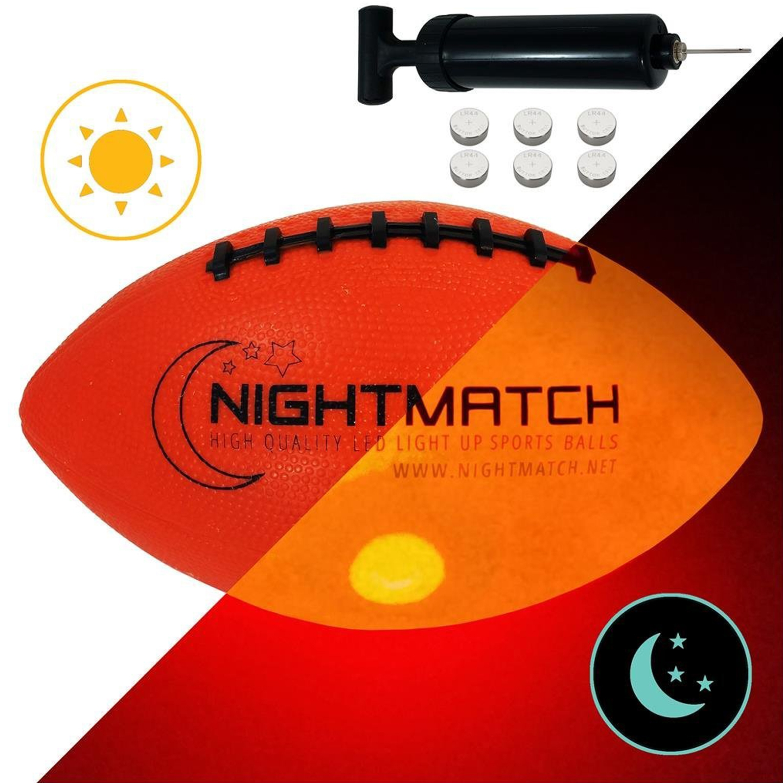 Night Match Light Up Led American Football Size 6