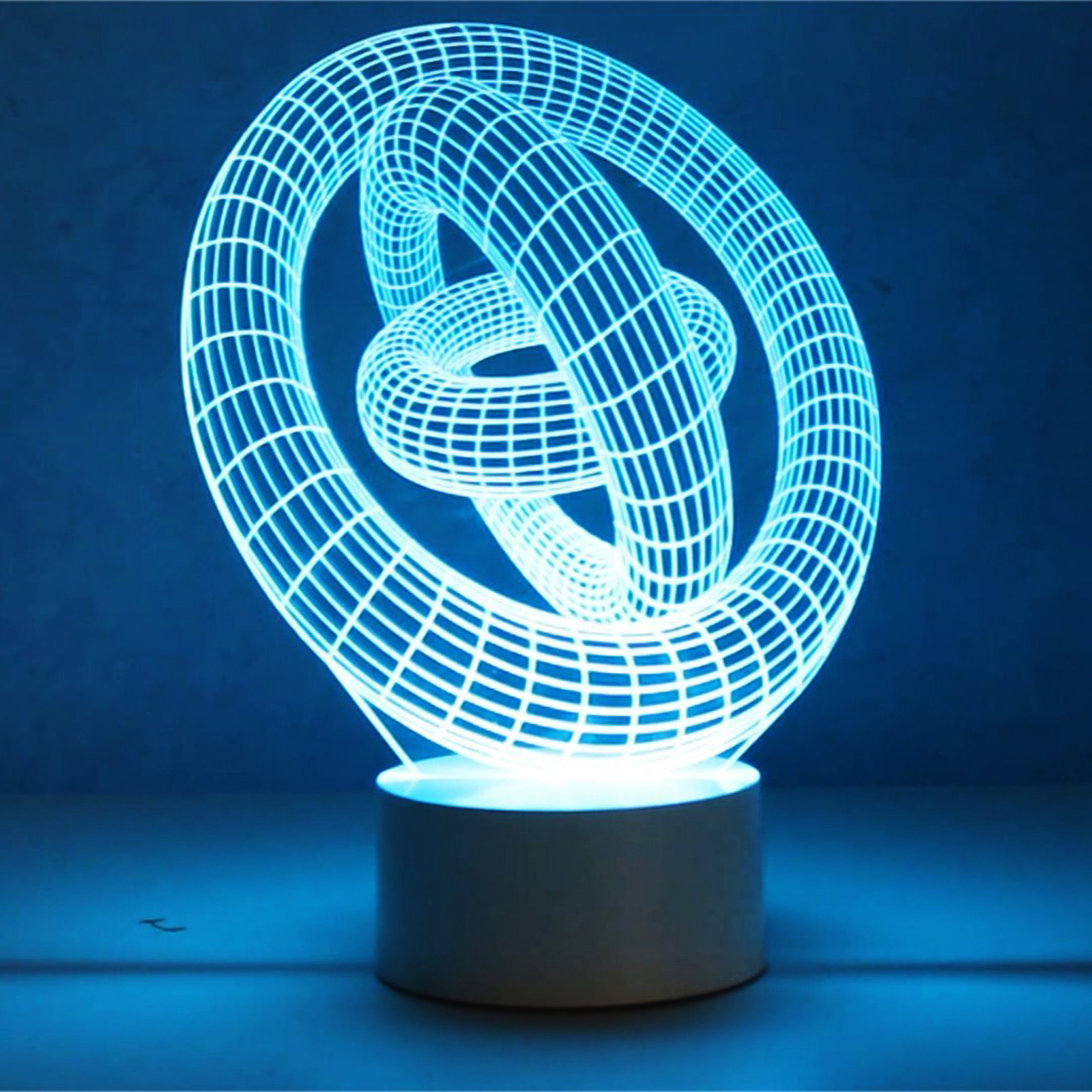 Optical Illusion 3d Gyro Lamp
