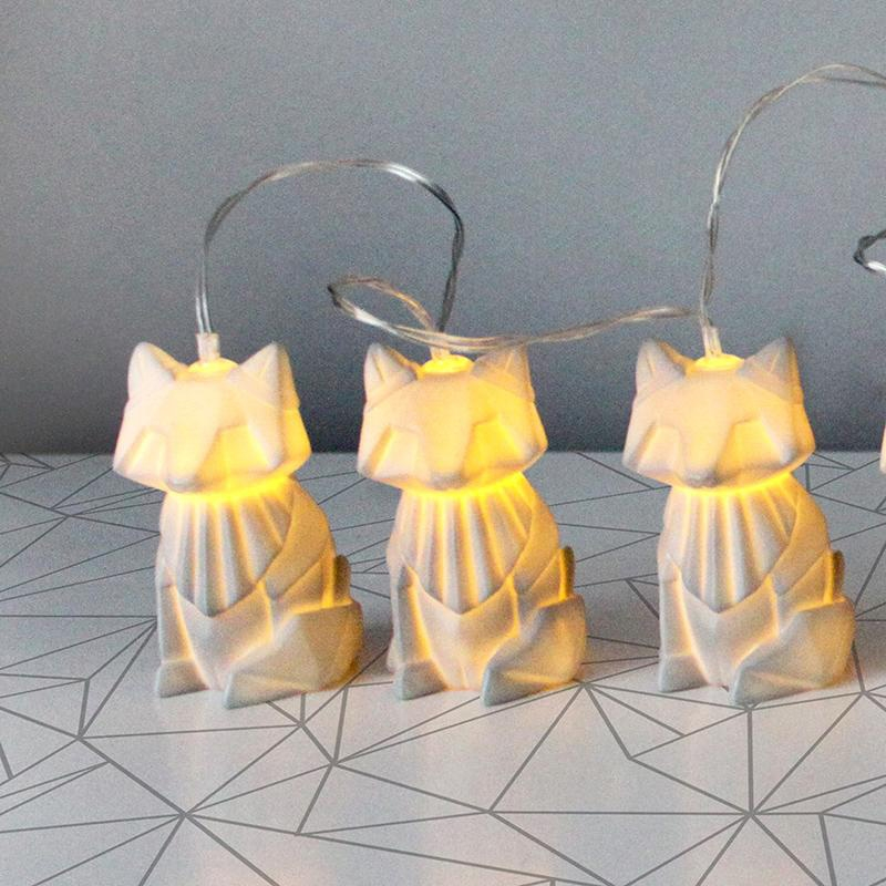 Origami Fox Fairy Lights