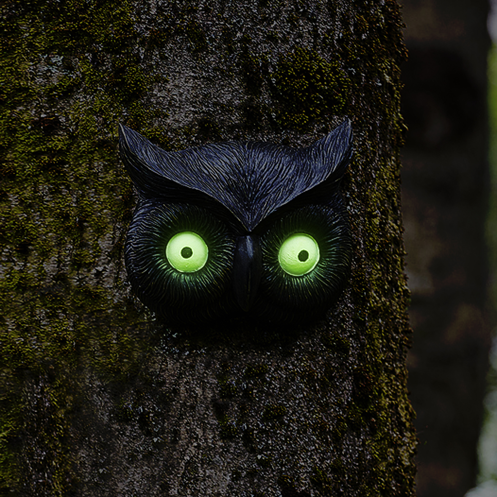 Owl Glow Eye Tree Face