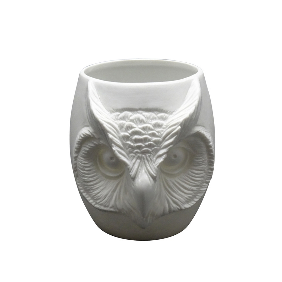 Click to view product details and reviews for Owl Face Porcelain Tealight Holder.