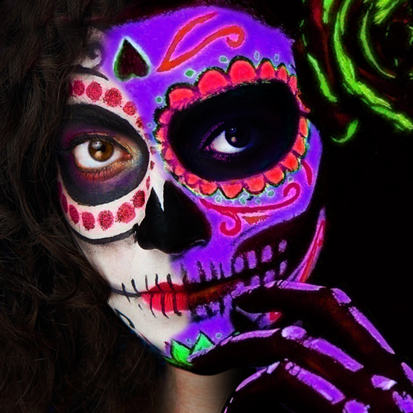 Paintglow Day Of The Dead Uv Paint Kit Gs023