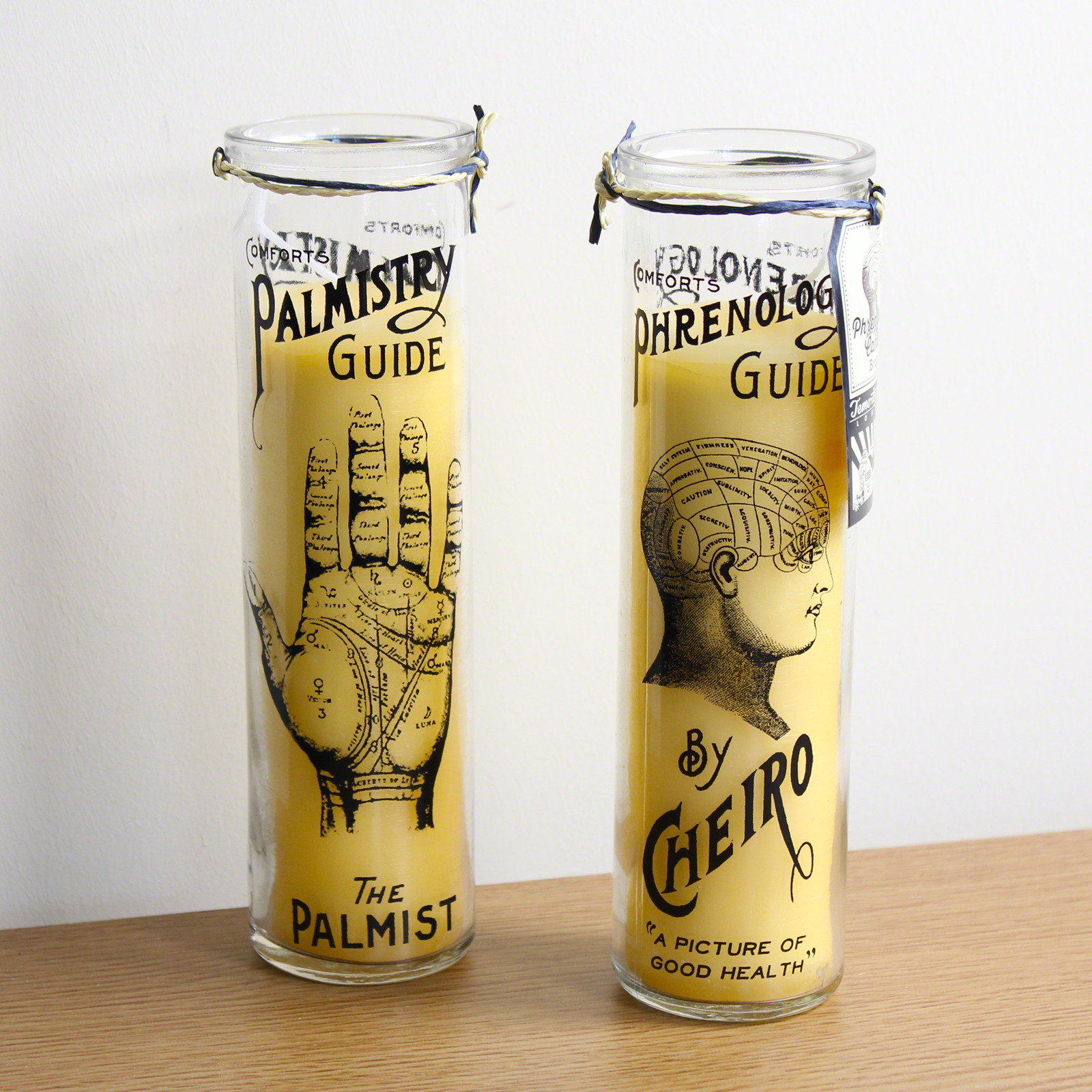 Click to view product details and reviews for Palm Phrenology Tall Candles 2 Pack.