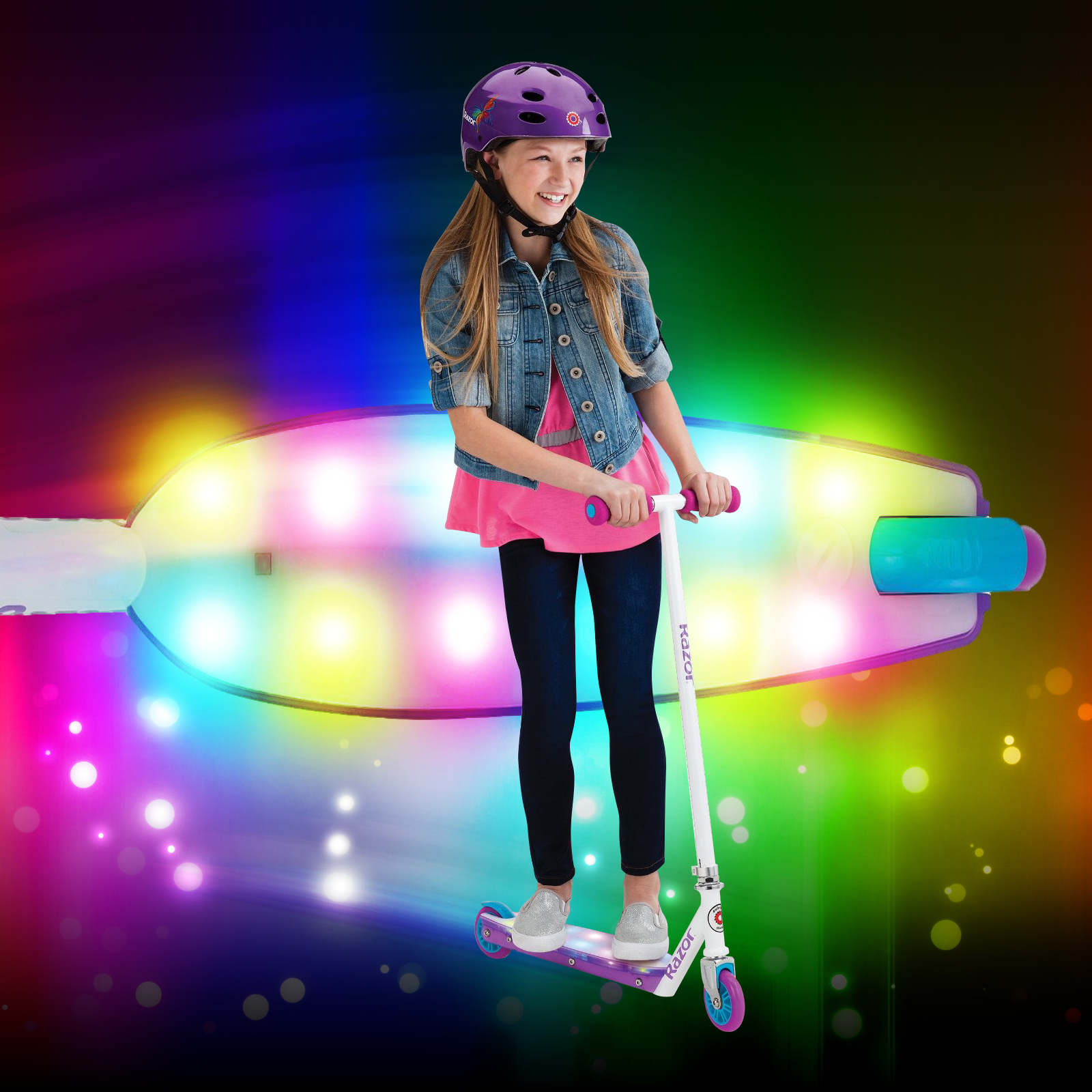 Click to view product details and reviews for Razor Party Pop Light Up Scooter.