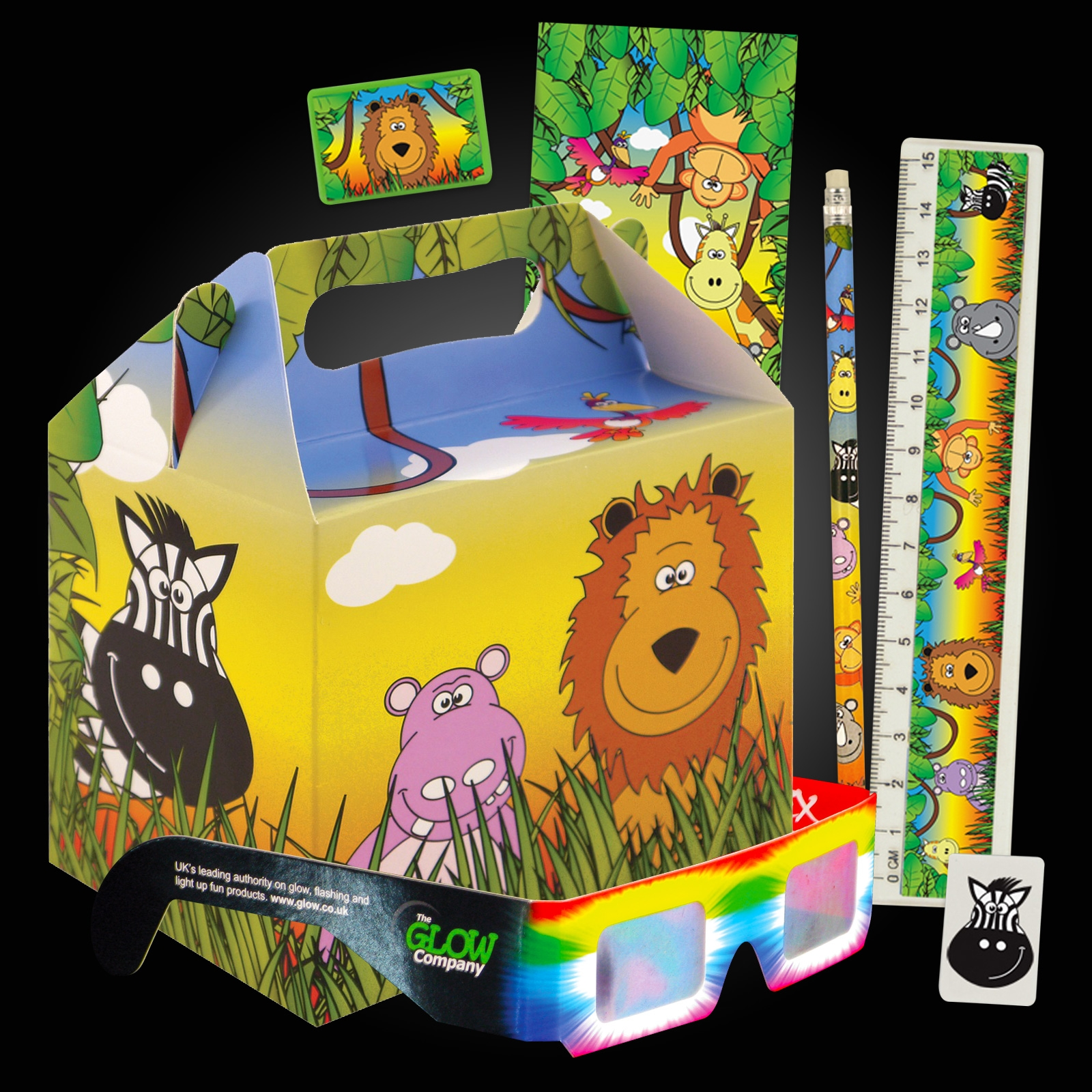 Click to view product details and reviews for Jungle Party Box Kit 12 Pack.