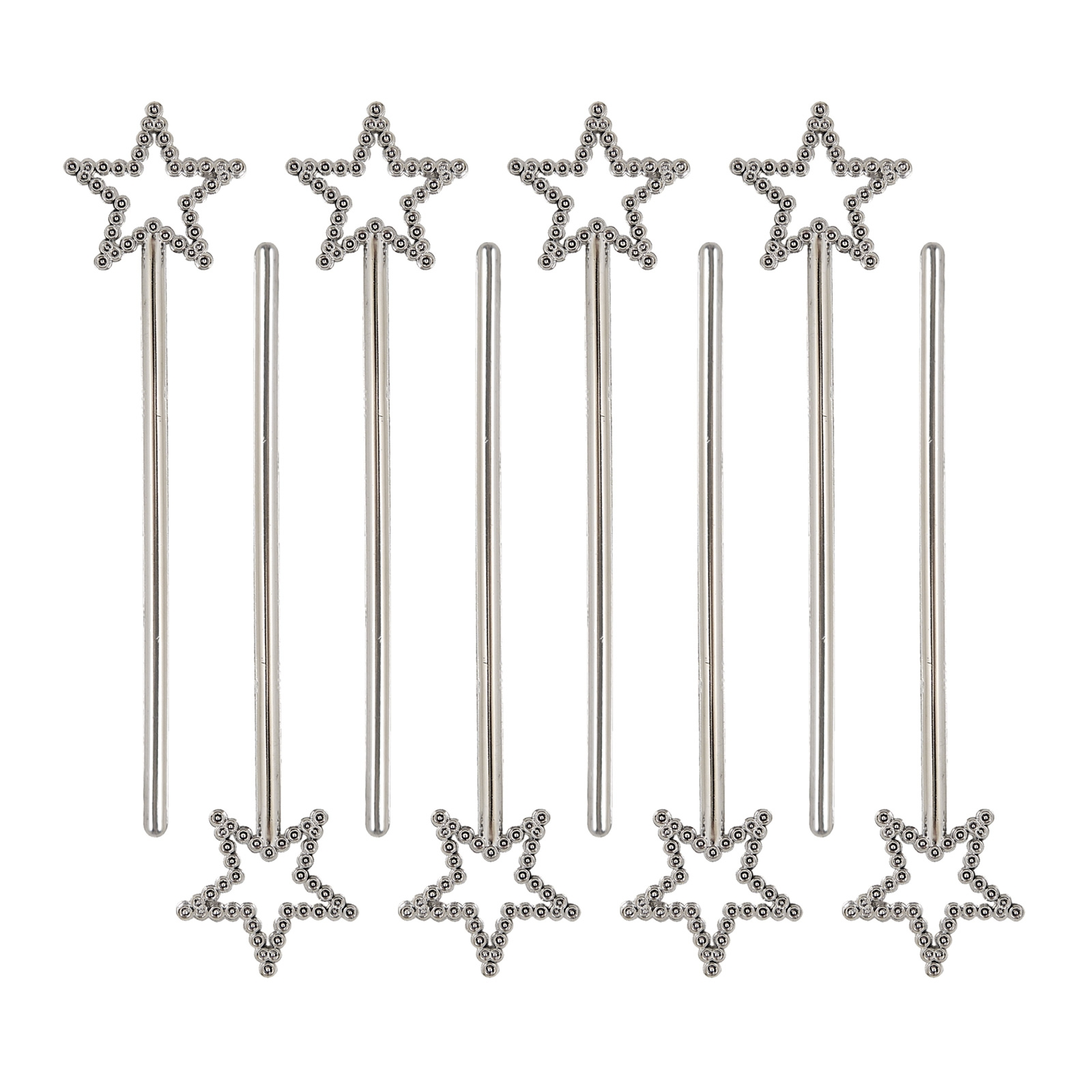 Silver Mini Star Wands 8 Pack