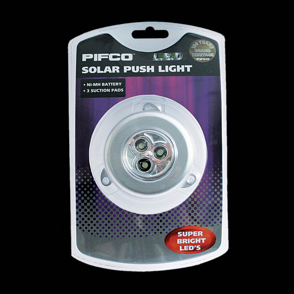 Click to view product details and reviews for Pifco Solar Push Light 3 Led.