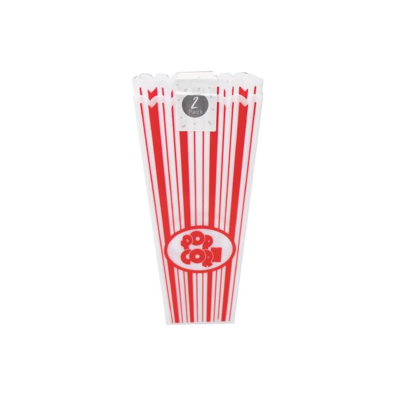Plastic Popcorn Holder X 2