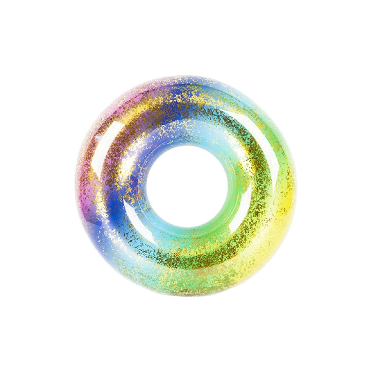 Click to view product details and reviews for Large Rainbow Swim Ring With Glitter.