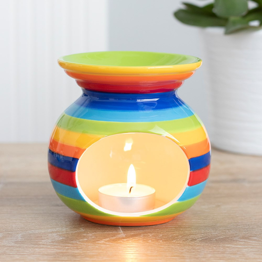 Rainbow Stripe Oil Burner