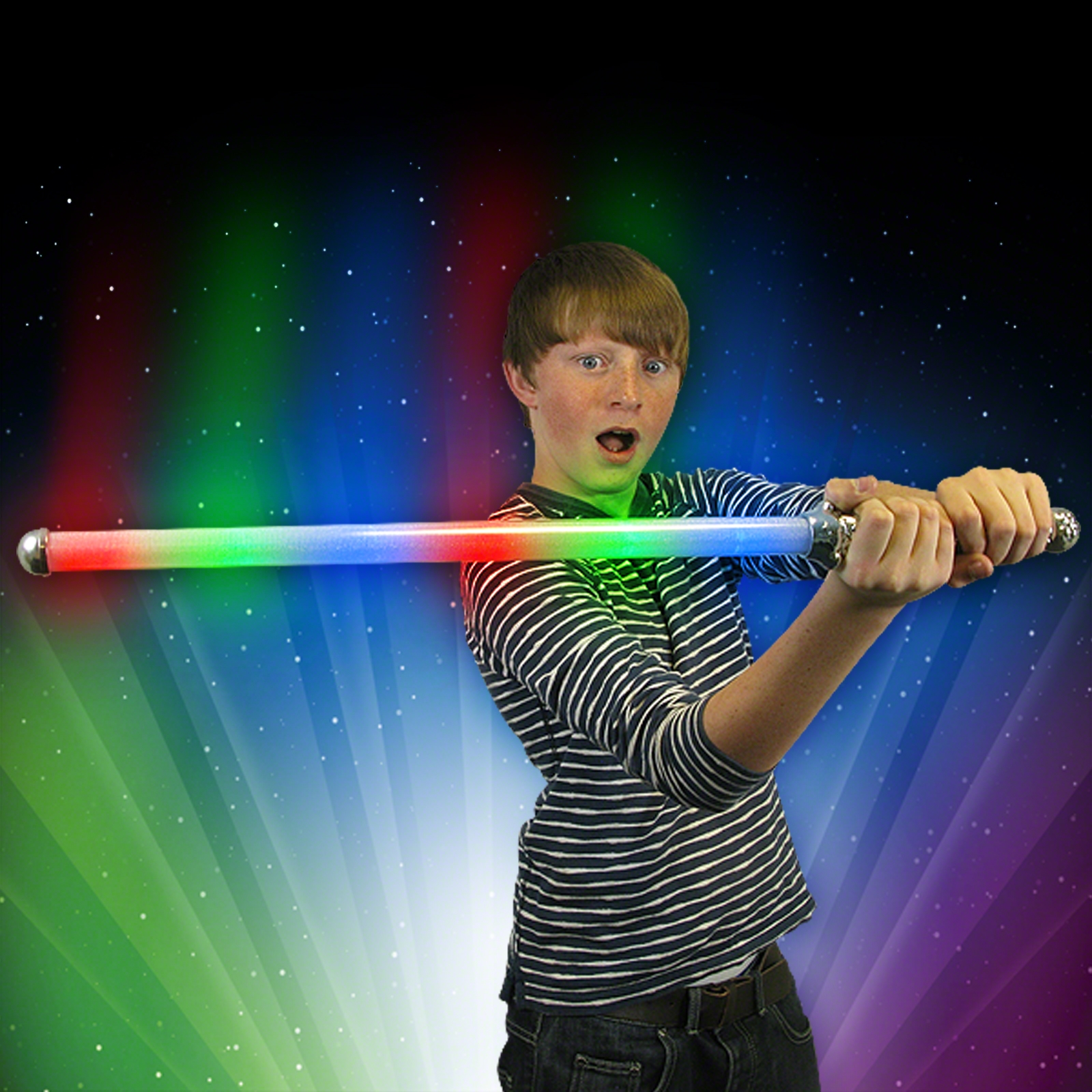 Flashing Rainbow Sword