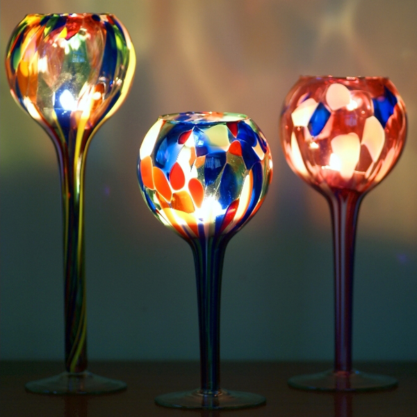 Click to view product details and reviews for Recycled Glass Table Top Candle Globe.