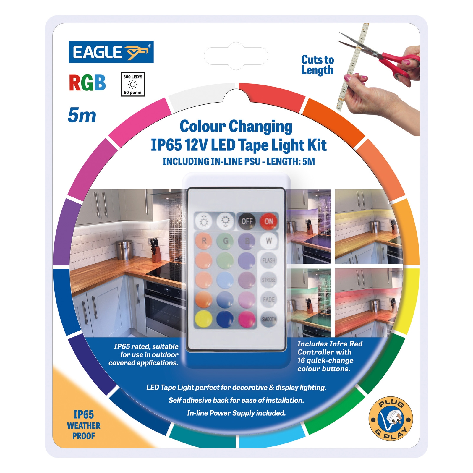 Click to view product details and reviews for Rgb Led Tape Kit 5m.