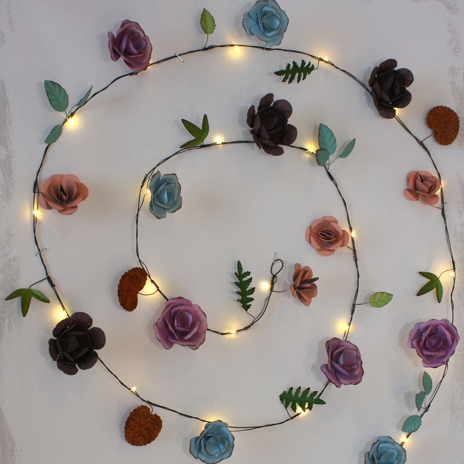 Click to view product details and reviews for Rose Metal Floral String Lights.