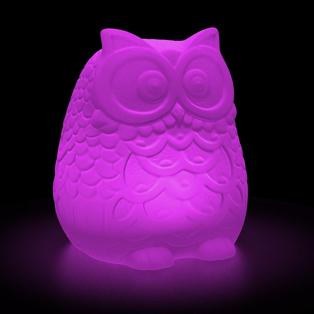 Large Solar Owl Colour Change R C Moodlight
