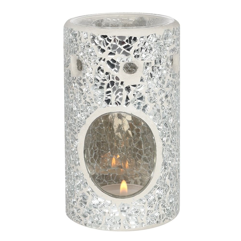 Click to view product details and reviews for Silver Crackle Oil Burner.