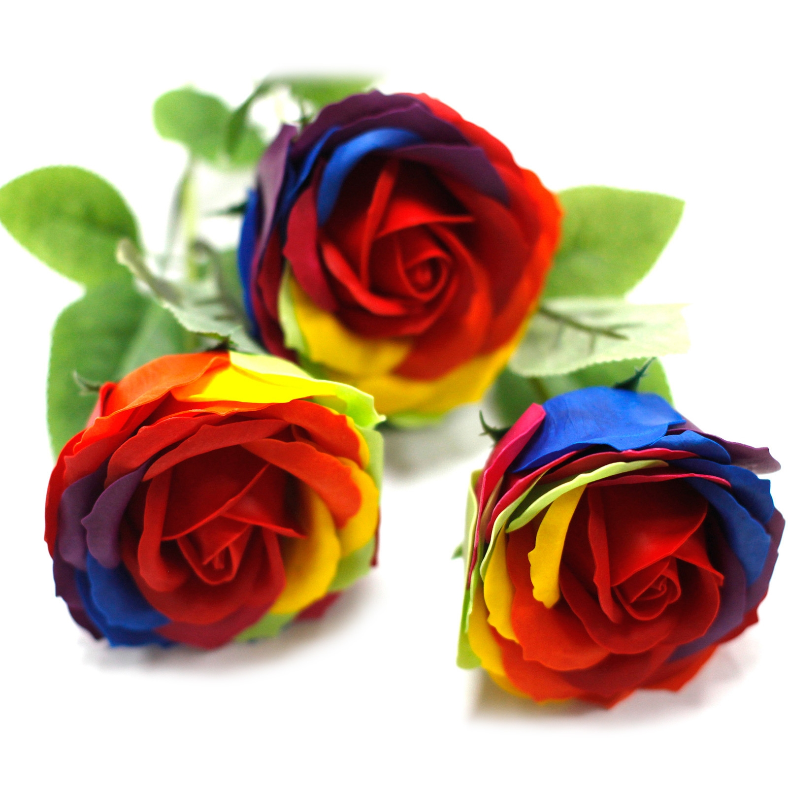 Click to view product details and reviews for Single Rainbow Rose Soap.