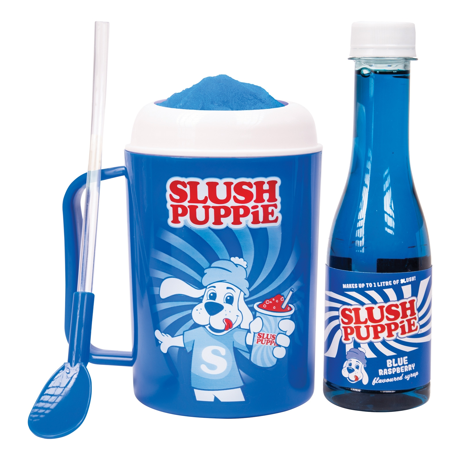 Click to view product details and reviews for Slush Puppie Making Cup And Blue Raspberry Set.
