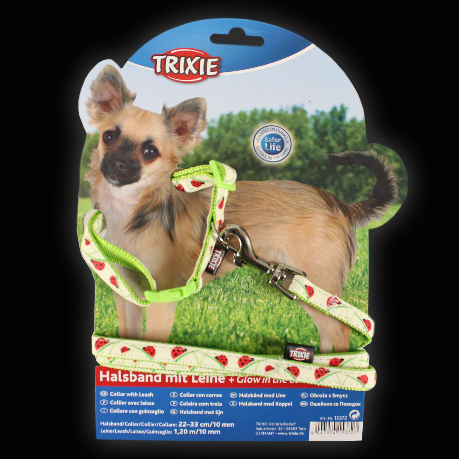 Click to view product details and reviews for Small Glow Ladybird Collar And Lead.