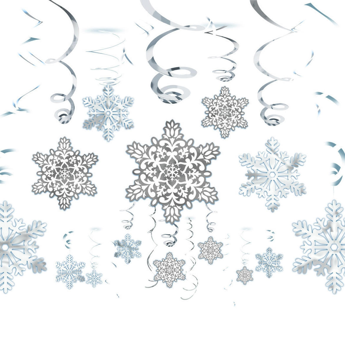 Click to view product details and reviews for Snowflake Swirl Decorations.