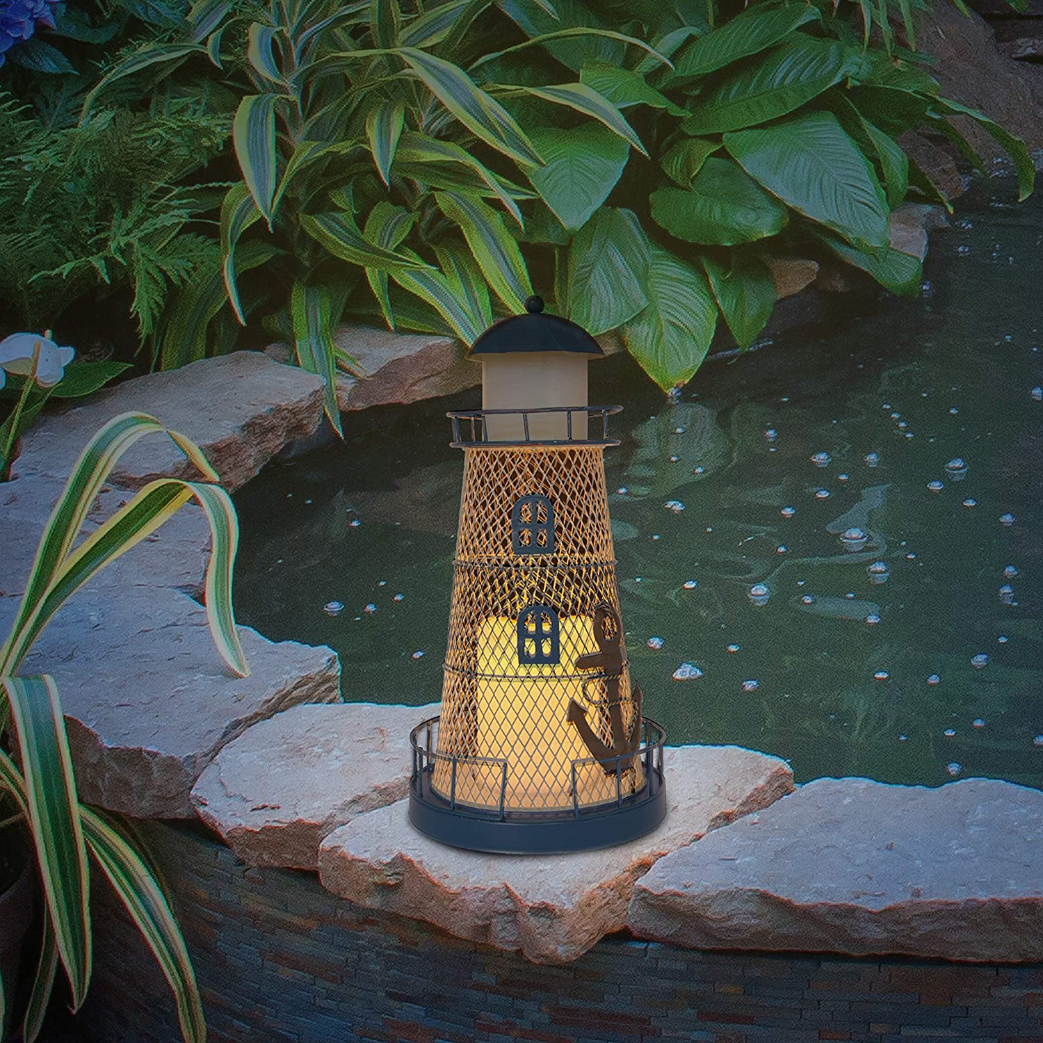 Click to view product details and reviews for Solar Flicker Candle Lighthouse.